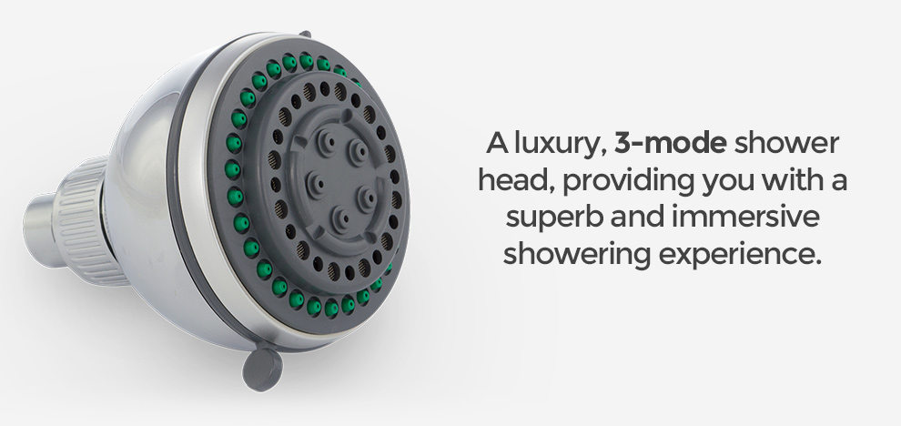 how to clean a fixed shower head