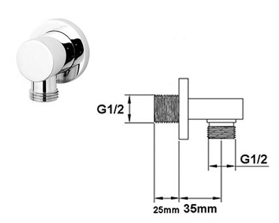 shower outlet elbow fitting instructions