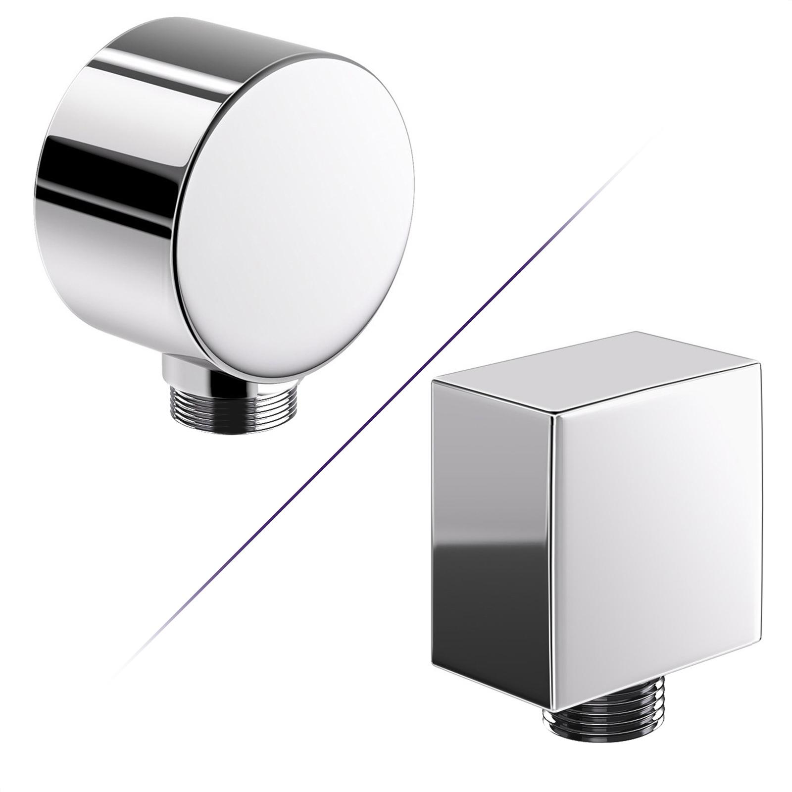 "UK Standard 1//2/"" BSP Round Luxury Chrome Plated Solid Brass Shower Head"